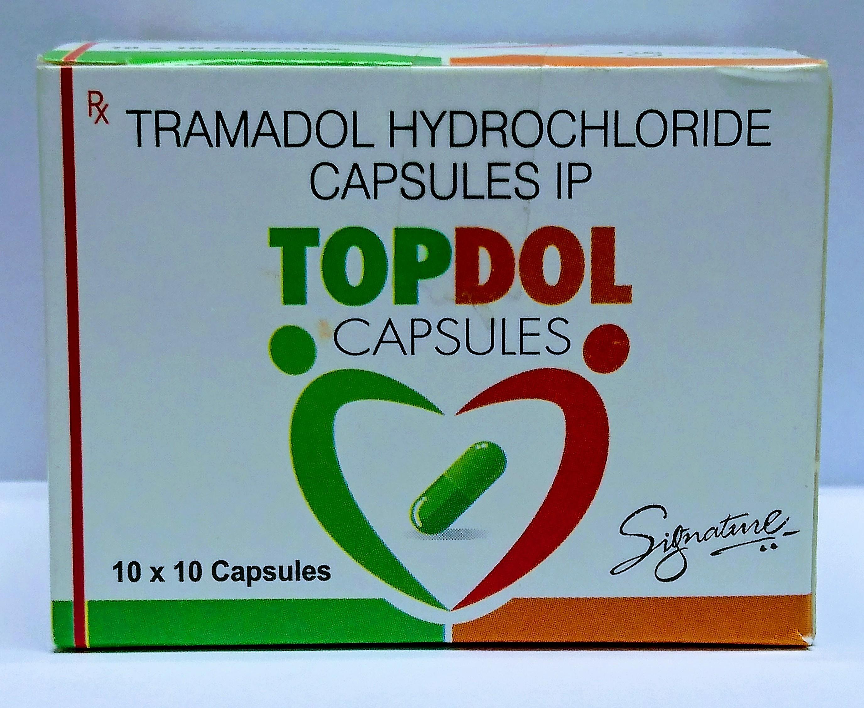 Tramadol - Topdol 100mg (Capsules)